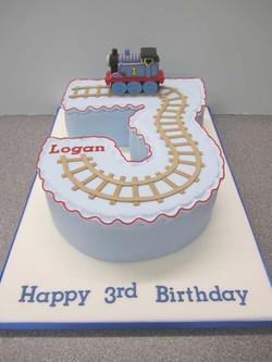 Train Number Cake