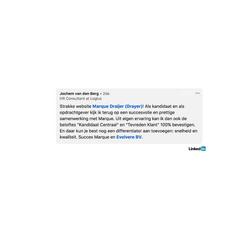 Evolvere search - klant quote JvdBerg