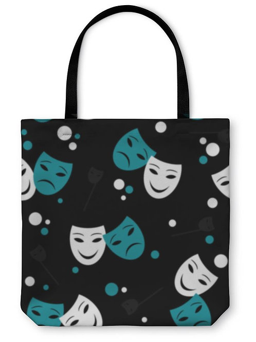 Tote Bag, Pattern With Theatre Masks