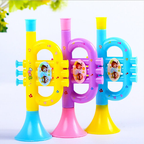 1 PCS Baby Music Early Education Colorful Musical Instrument (Trumpet)