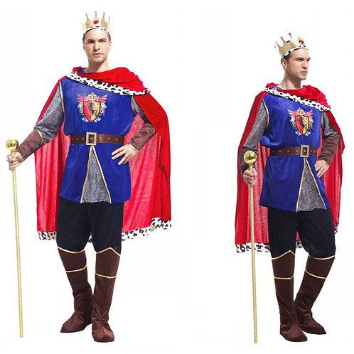 Adult Fancy King Prince European Medieval Cosplay Costume
