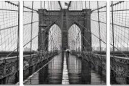 Brooklyn Bridge Classic Tryptic Art