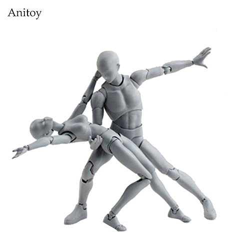 Grey Color Posable PVC Action Figure Collectible Model Toy