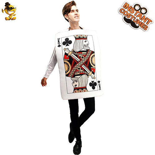 Adult Queen of Hearts Costume Cosplay Playing Cards Tunic