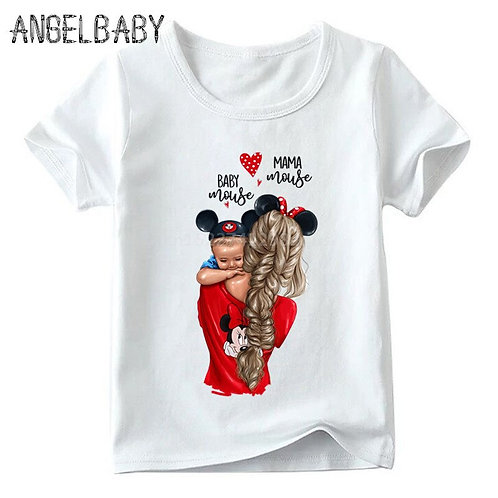 Matching Family Outfits Super Mom Mouse Ears T-Shirt