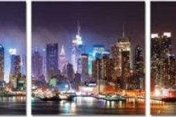 NYC Skyline Classic Tryptic Art
