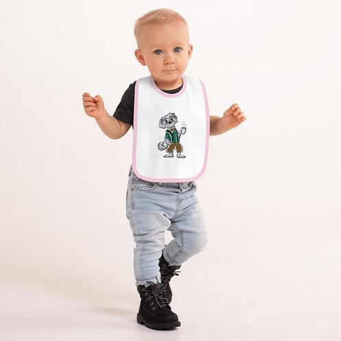Tony Embroidered Baby Bib