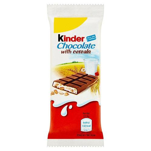 Kinder Chocolate With Cereals