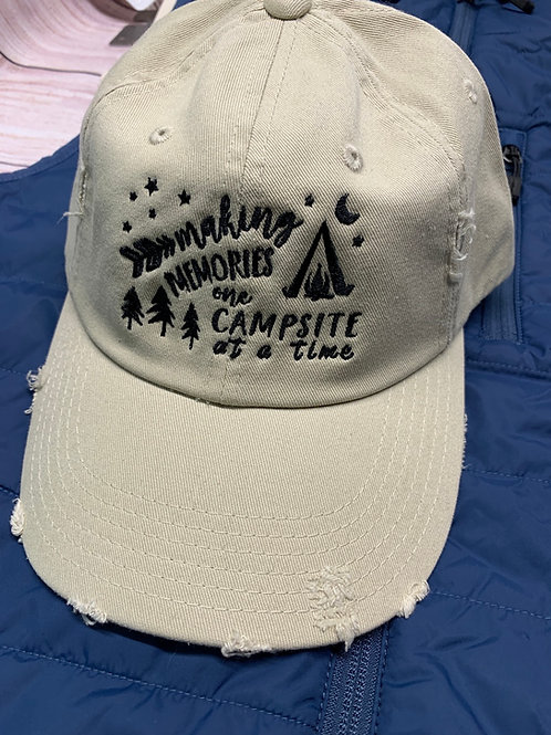 Making Memories one campsite at a time hat