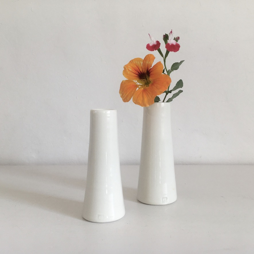 A pair of tapered vases