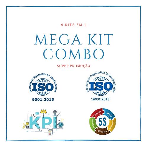 MEGA KIT COMBO (ISO 9001:2015, ISO 14001:2015, KPI´s e 5S - HOUSEKEEPING)