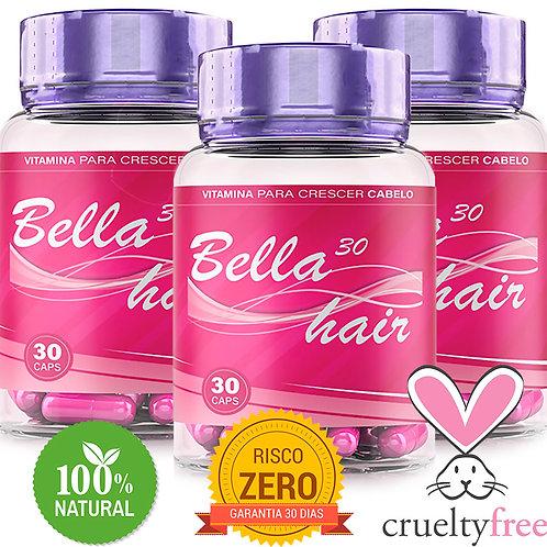 Bella30 Hair - Vitamina que Faz Cabelo Crescer