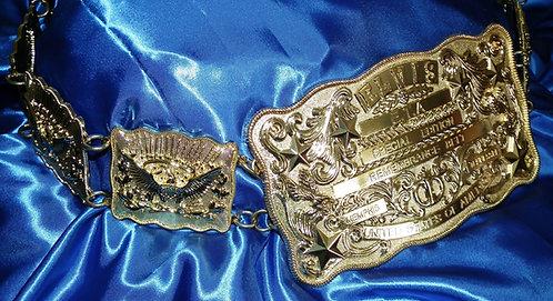 Elvis Presley Gold Remembrance Belt