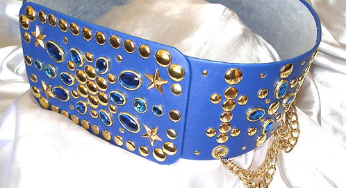 Gold and Sapphire Belt