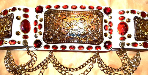 Elvis Style Crystal and Flying Eagle Belt