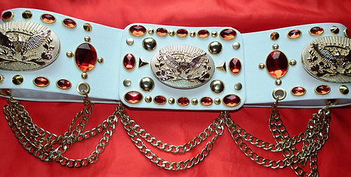 Gold and Ruby Elvis Style Flying Eagle Belt