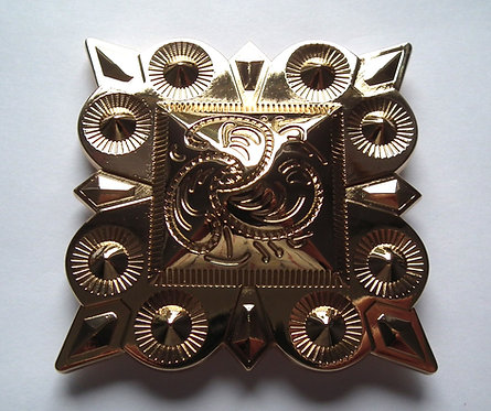 Individual Spare Large Gold Square Concho