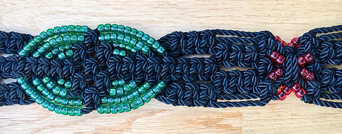 Green Indian Eye Macramé Belt