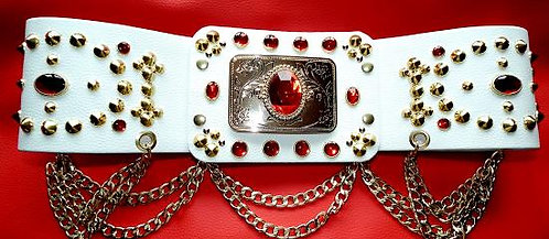 Elvis Style Oval Belt with Chains