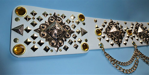 Elvis Style Gold Pyramid Belt