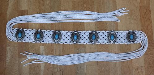 Turquoise Navajo Macrame Belt
