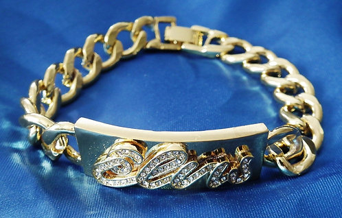 18ct Gold Plated 'Elvis' Bracelet