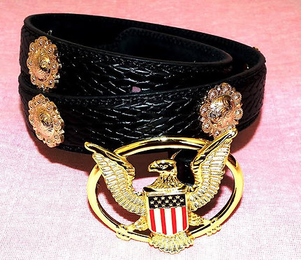 Gold Aloha and Concho Belt