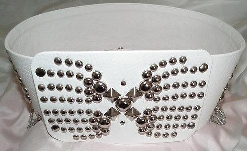 Elvis Style Silver Comet Belt