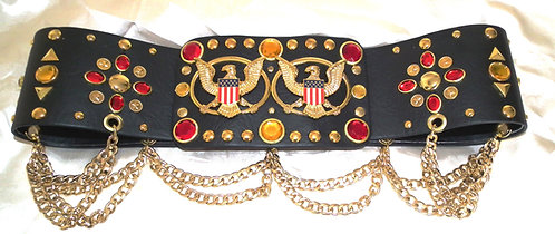 Red and Gold Jeweled Aloha Belt