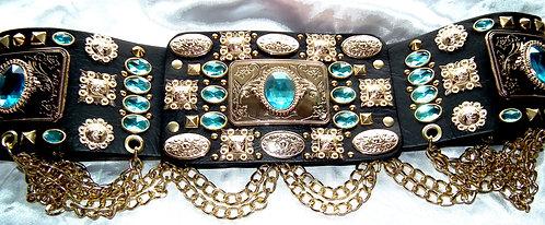 Elvis Style Gold Geometric Belt