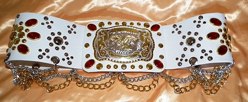Jeweled Western Buckle Belt