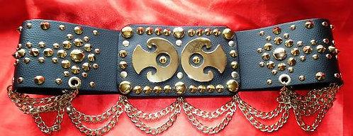 Gold Studded Spade Belt