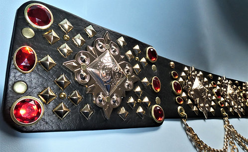 Elvis Style Luxury Gold Pyramid Belt