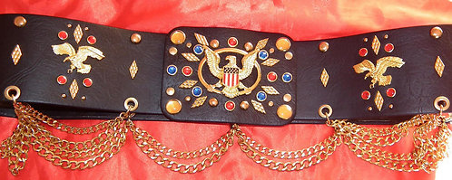 Flying Eagle and Diamond Aloha Belt