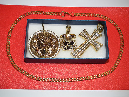 3 Pendant Collection with Chain