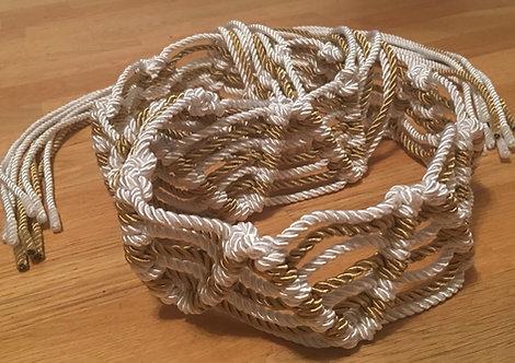 The Gold Zig-Zag Macramé Belt