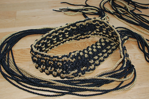 The Black and Gold Tapestry Suit Macramé Belt