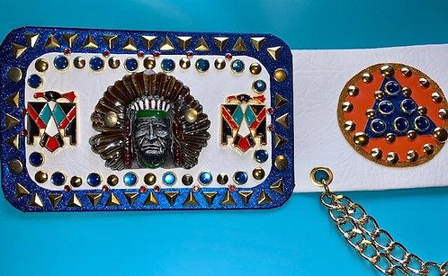 Elvis style Indian Head Belt