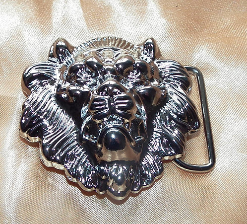 Small Silver Lion Head Buckle