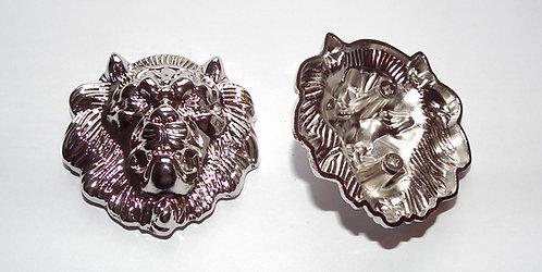 Individual Spare Small Silver Lion Head