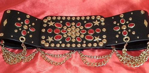 Black and Garnet Belt