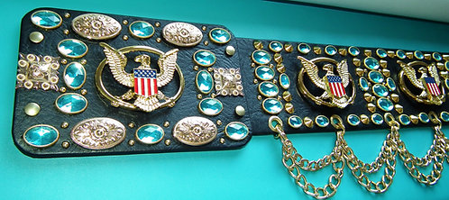 5 Eagle Jewelled Aloha Belt with Mini Conchos