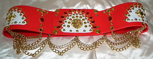 The Red and White Spanish Flower Belt