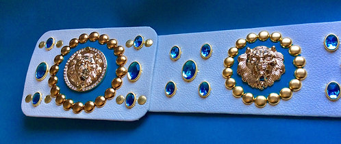 Elvis Style Turquoise Lion Head Nail Belt