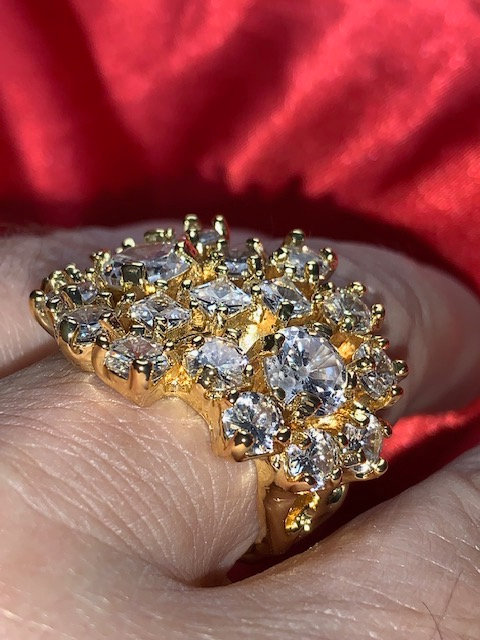 Elvis Style Diamond & Gold Nugget Ring