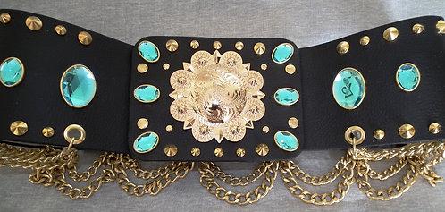 Elvis Style Large Gold Concho Belt