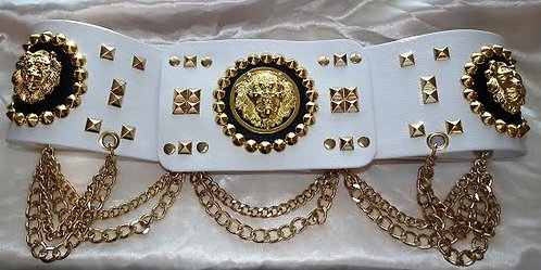 Elvis Style Lion Head Nail Belt