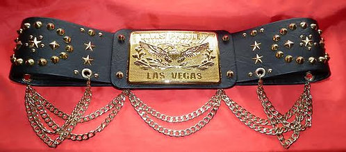 Elvis Oval Gold Buckle Belt