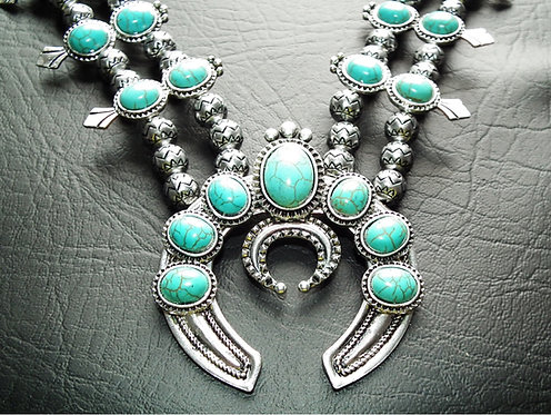 Elvis style Turquoise Navajo Necklace