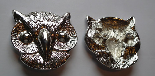 Individual Spare Large Silver Owl Head